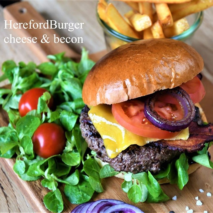 HerefordBurger cheas & becon